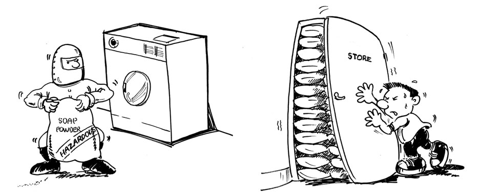 Alpha Laundry illustrations