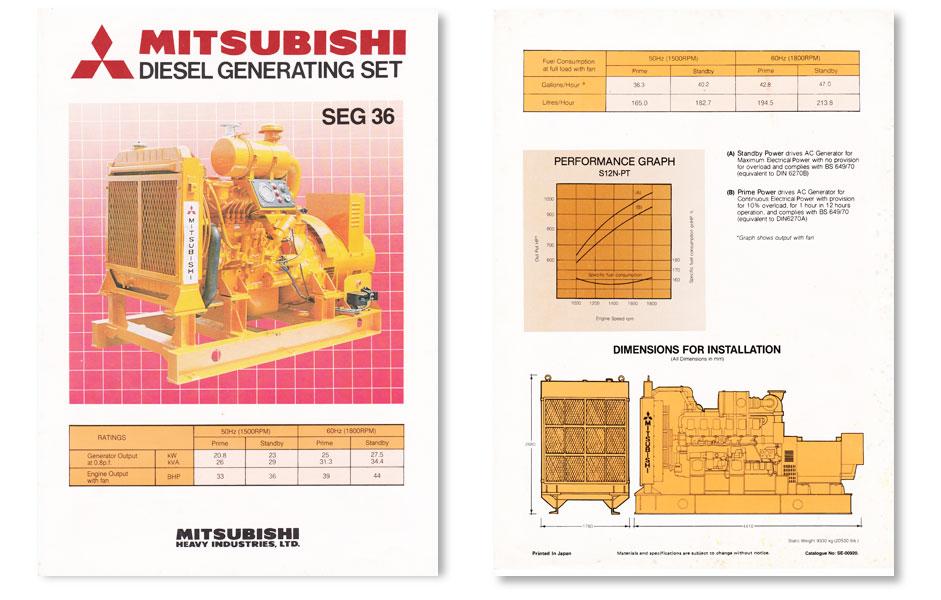Mitsubishi diesel generator brochure