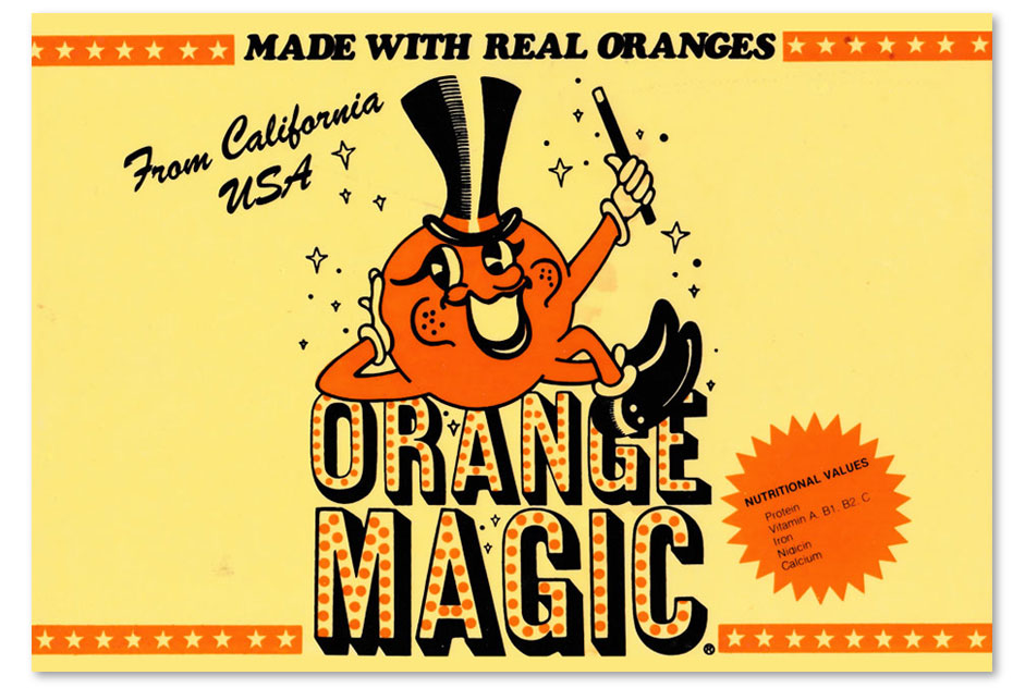 Orange Magic machine label