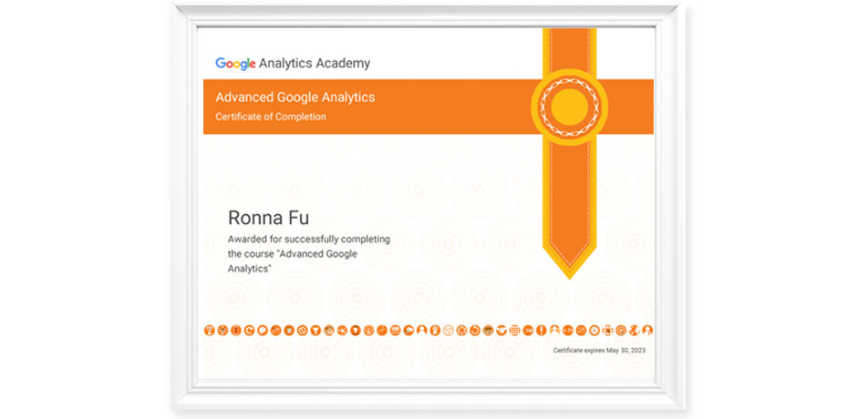 Advance Google Analytic Certificate
