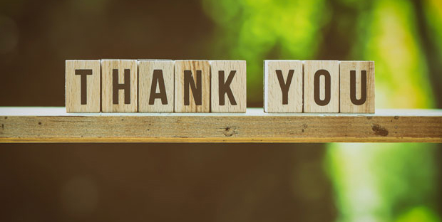 Thank-you-feedback